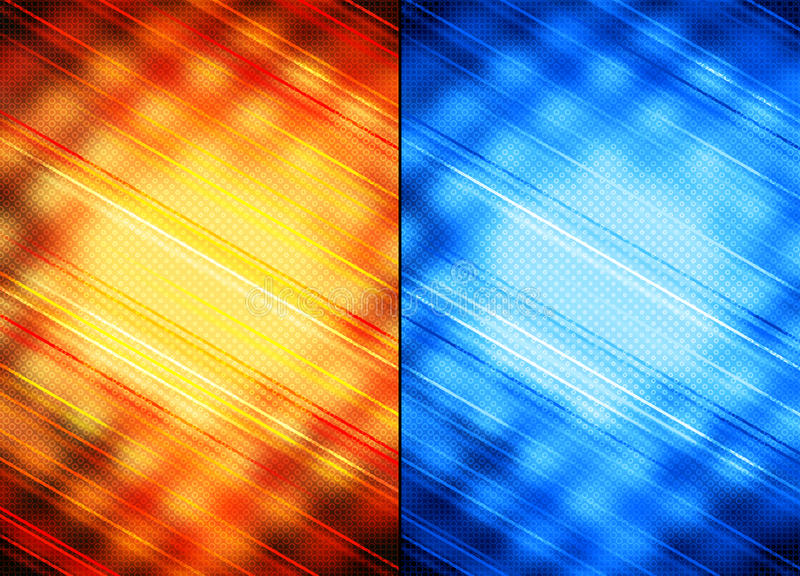 помеец абстрактных предпосылок голубой иллюстрация вектора