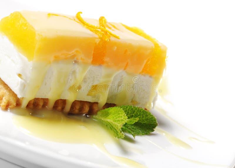 помеец десерта cheesecake стоковое изображение
