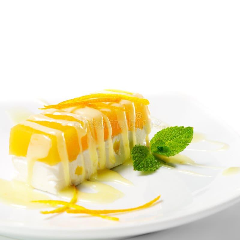 помеец десерта cheesecake стоковые фото
