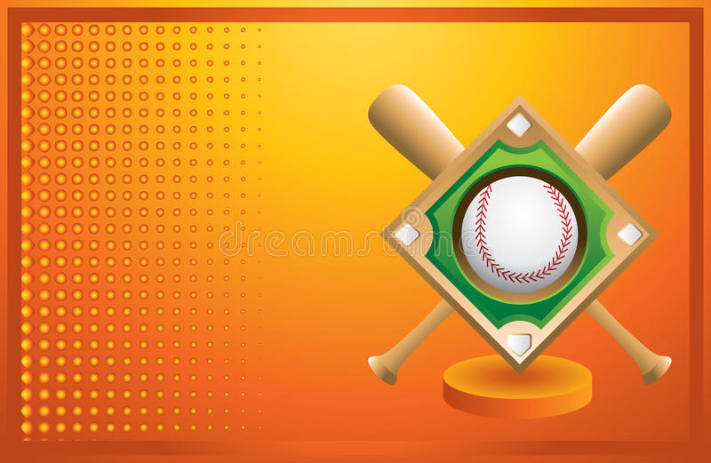 помеец диаманта бейсбольных бита знамени бесплатная иллюстрация
