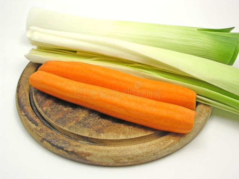помеец лук-порея моркови зеленый стоковое изображение rf