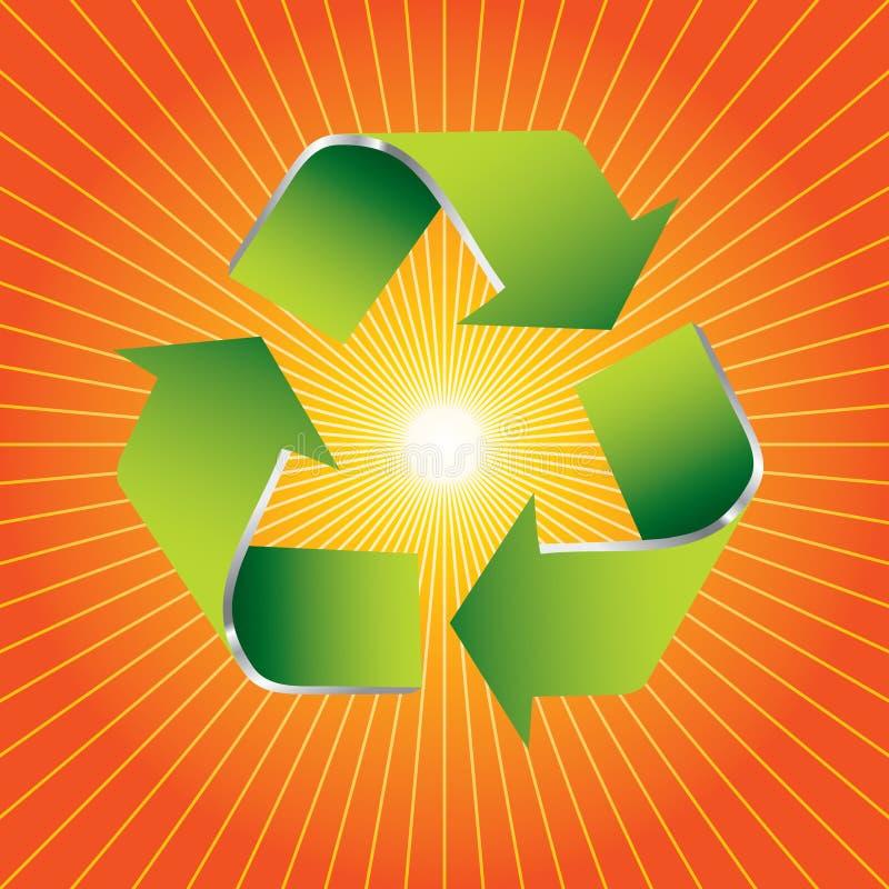 помеец рециркулирует символ starburst иллюстрация вектора