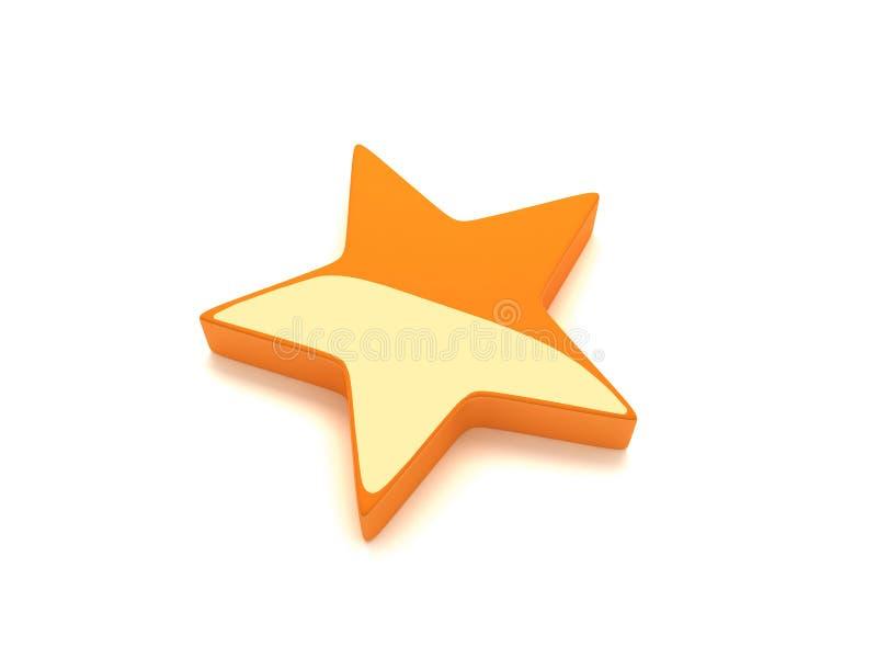 померанцовая звезда иллюстрация вектора