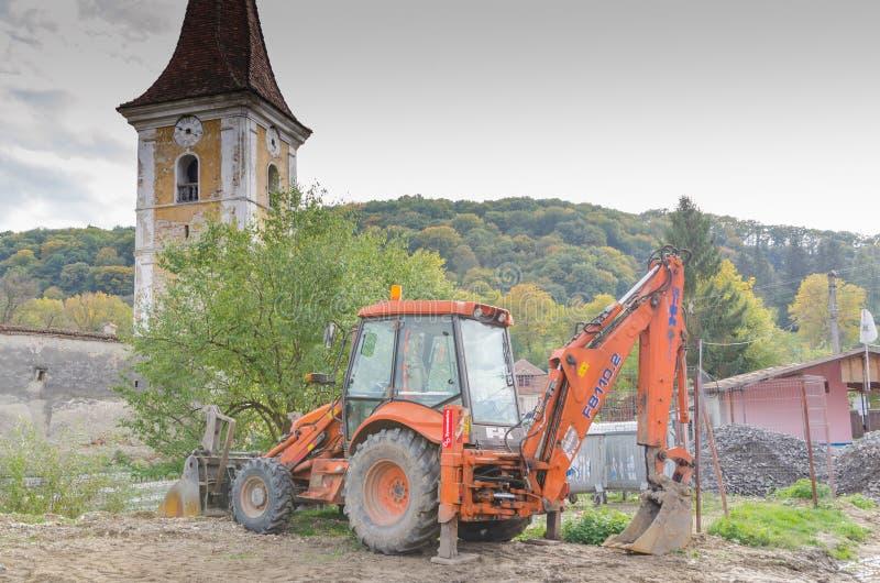Померанцовая землечерпалка стоковые фото