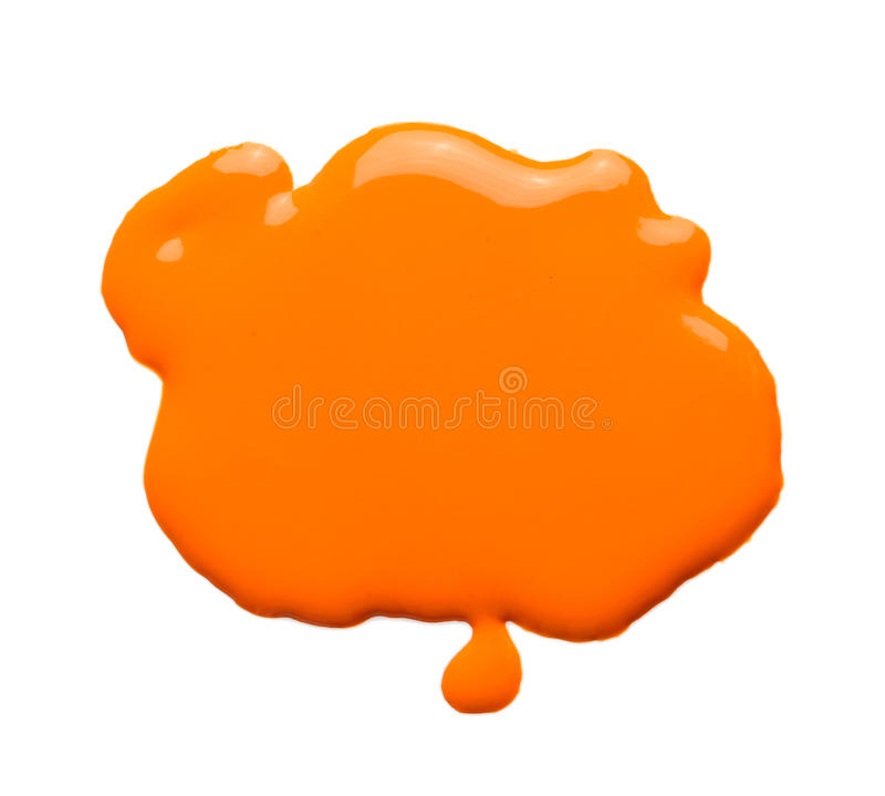 померанцовая краска стоковое фото
