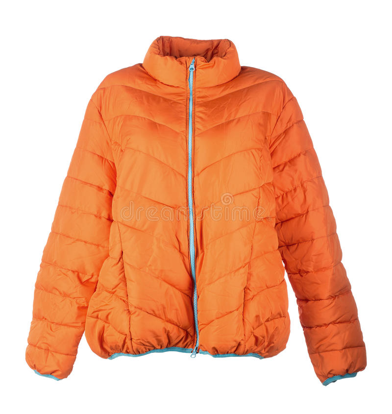 Померанцовая куртка стоковое фото