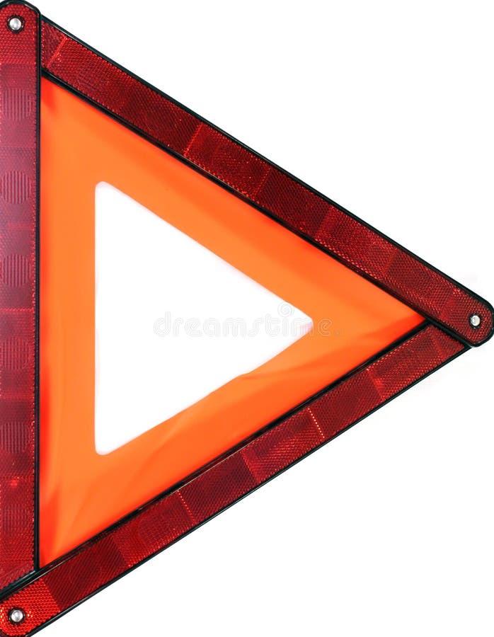 померанцовое предупреждение треугольника знака стоковое фото rf