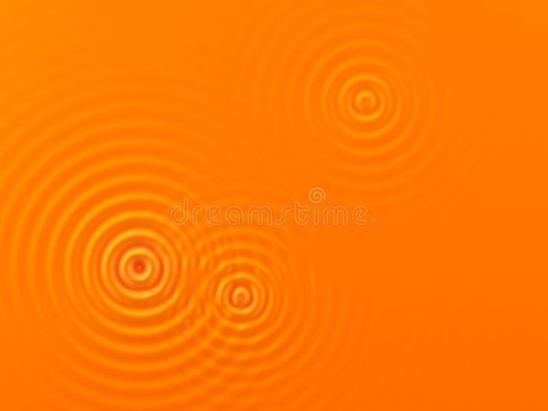 померанцовые волны иллюстрация вектора