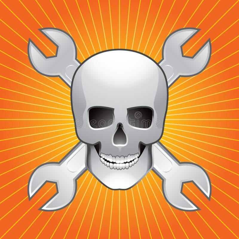 померанцовые ключи starburst черепа бесплатная иллюстрация
