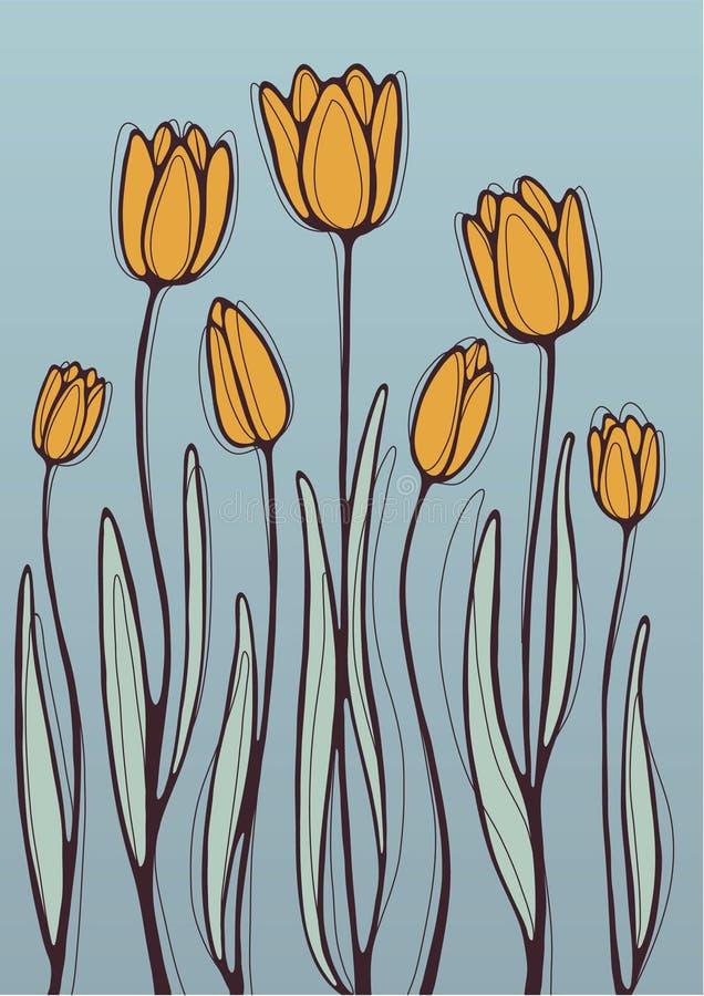 Померанцовые тюльпаны