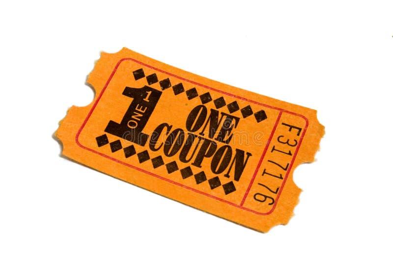померанцовый билет стоковое фото rf