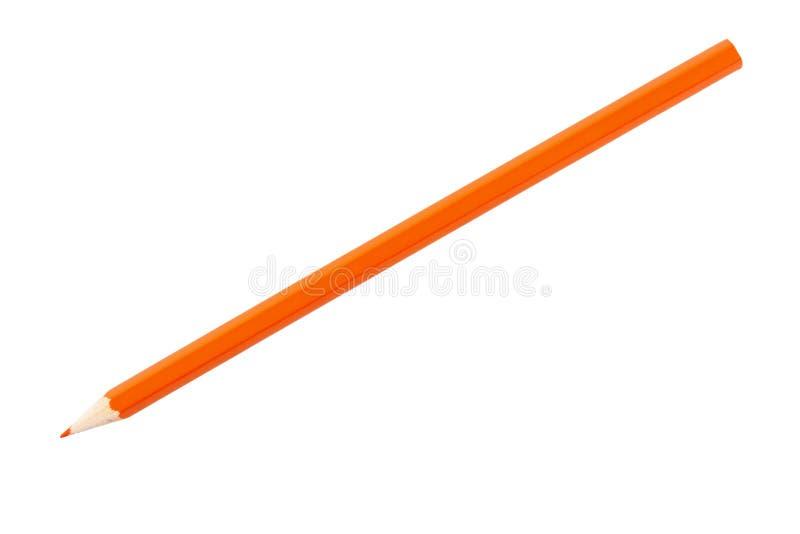 померанцовый карандаш стоковая фотография