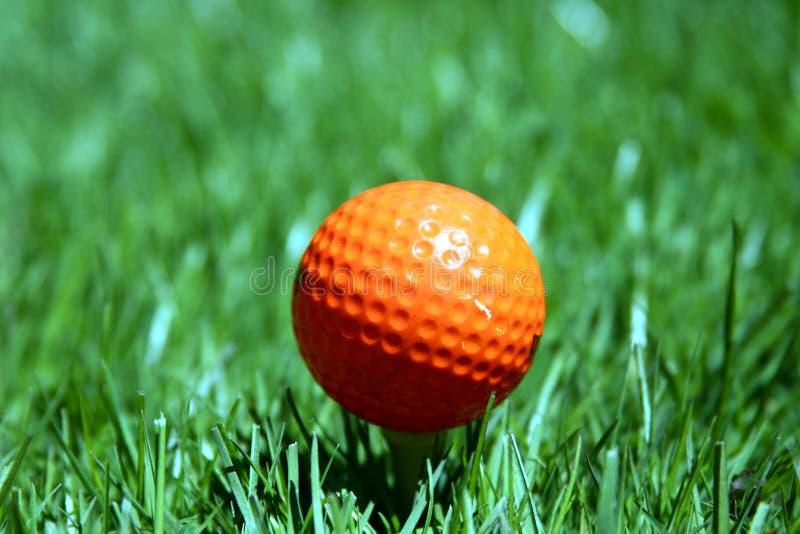 Померанцовый шар для игры в гольф стоковое изображение rf