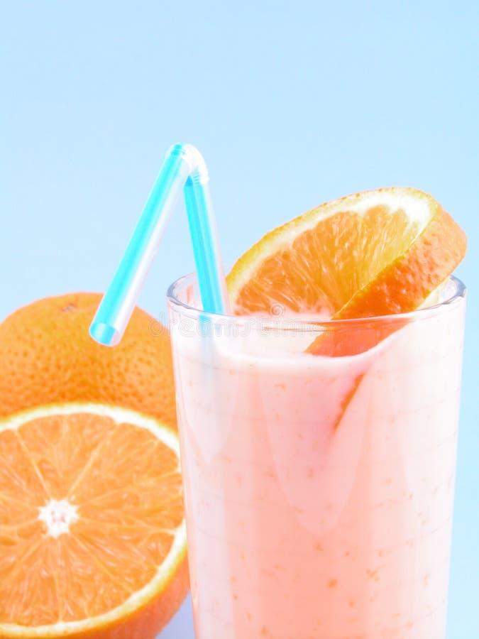 померанцовый smoothie стоковое изображение