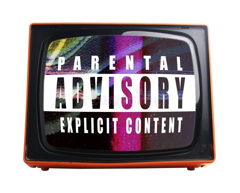 померанцовый tv стоковое изображение