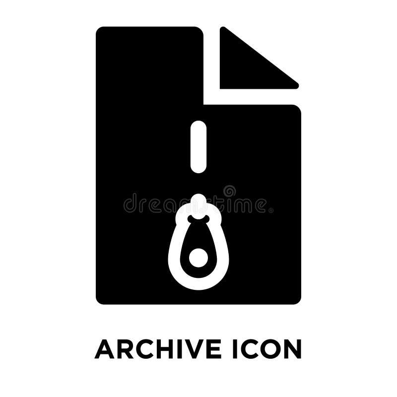Поместите вектор в архив значка изолированный на белой предпосылке, концепции o логотипа бесплатная иллюстрация