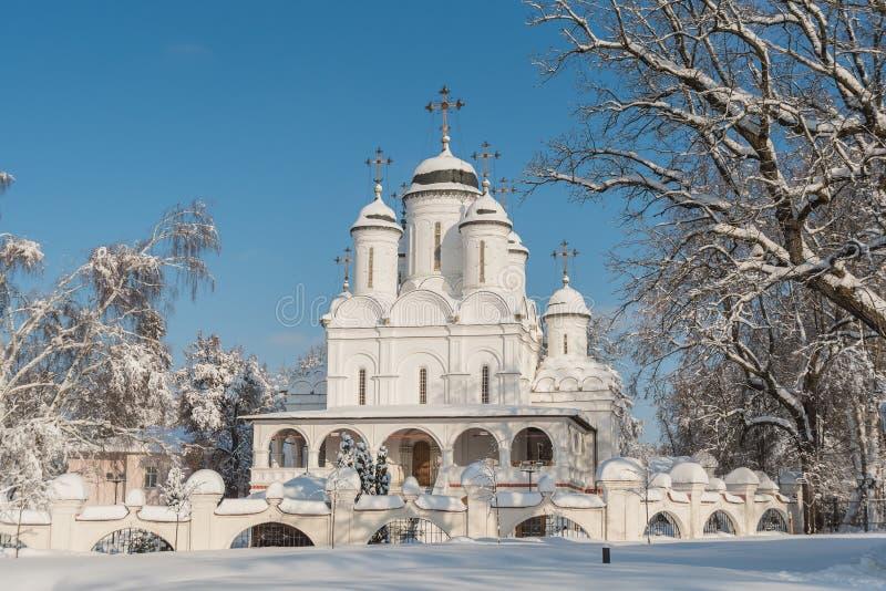 Поместье полное Vyazemy зимы в Москве России стоковое фото rf