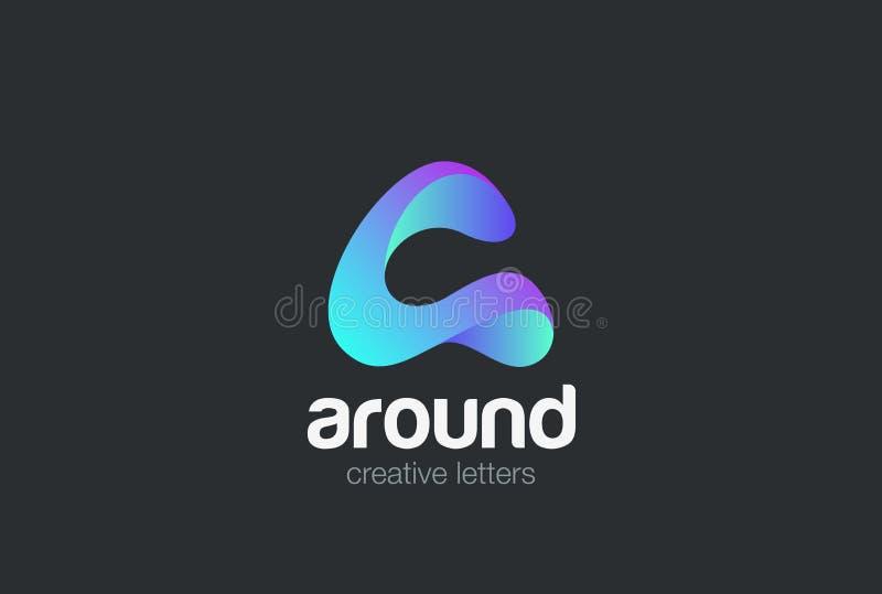 Пометьте буквами вектор дизайна ленты логотипа Дружелюбное Techn иллюстрация штока