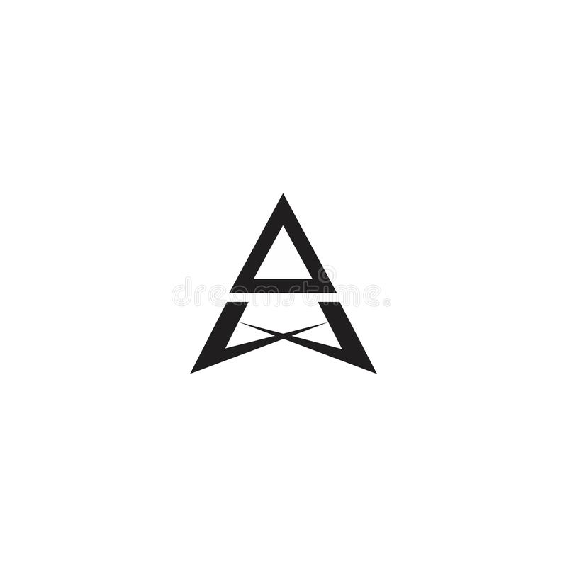 Пометьте буквами геометрический вектор логотипа образования формы карандаша стрелки бесплатная иллюстрация