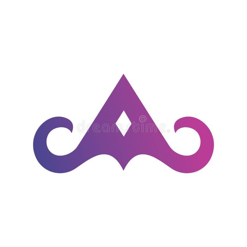 Пометьте буквами дизайн вектора логотипа градиента уникальный иллюстрация штока