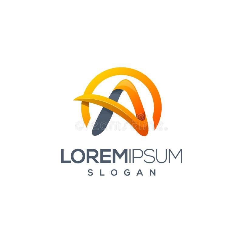 Пометьте буквами дизайн логотипа готовый для использования бесплатная иллюстрация