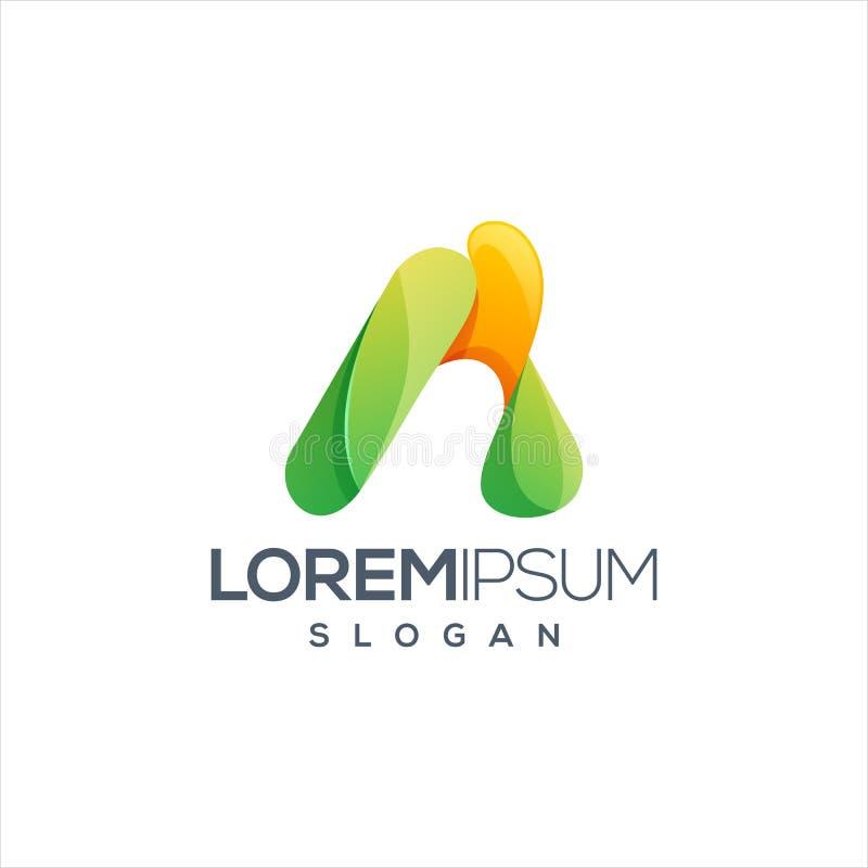 Пометьте буквами дизайн логотипа красочный и подготавливайте se t u для вашей компании бесплатная иллюстрация