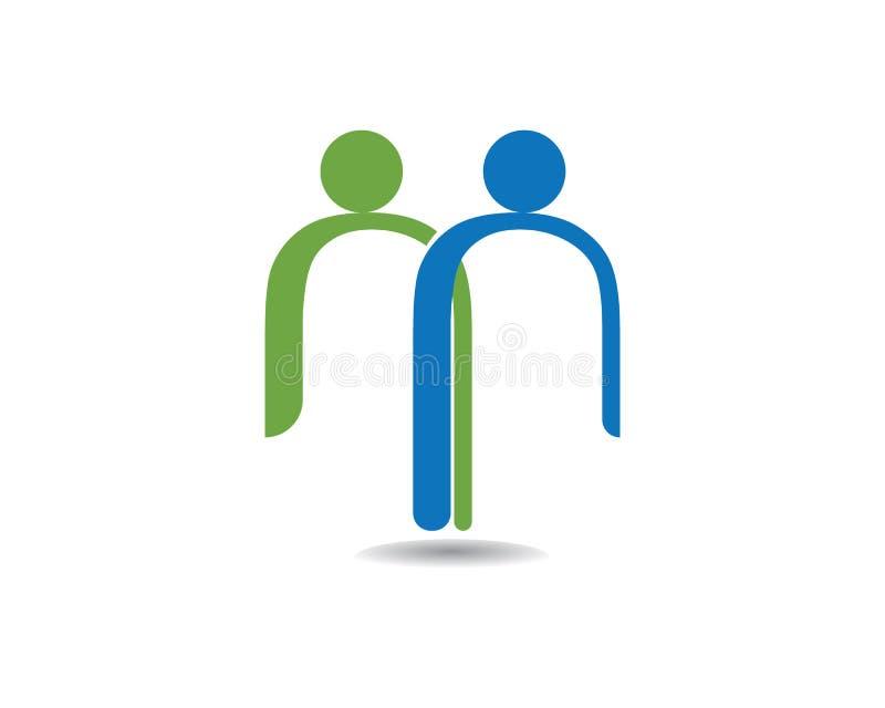 Пометьте буквами семью людей m для того чтобы позаботить логотипы значков вектора иллюстрация штока