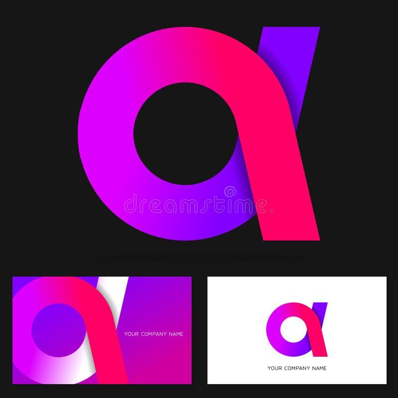 Пометьте буквами элементы шаблона дизайна значка логотипа Красочный знак вектора иллюстрация вектора
