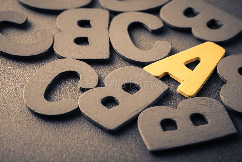 Пометьте буквами a стоковые фото
