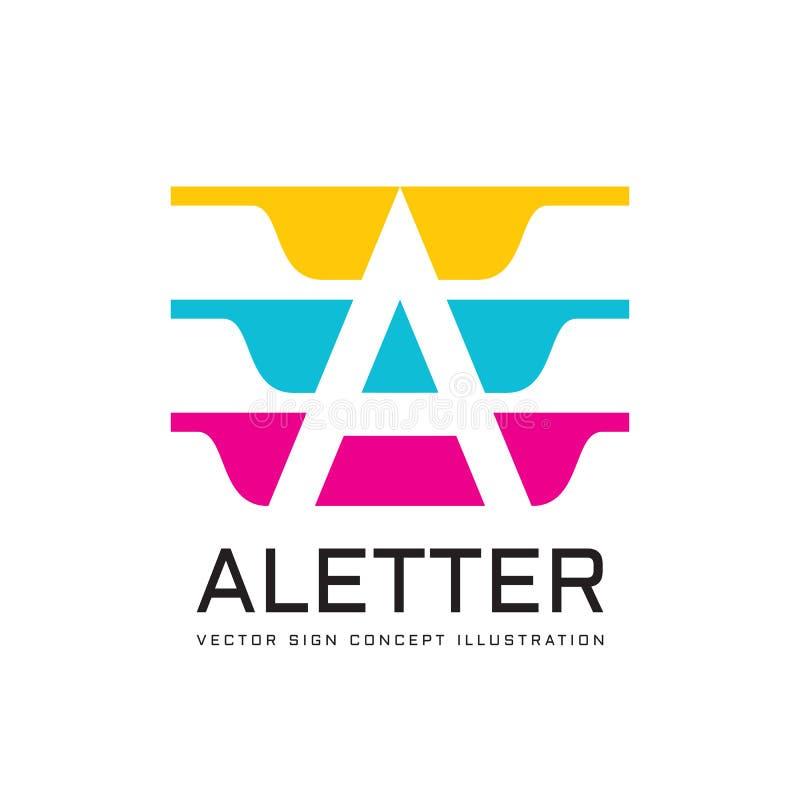 Пометьте буквами a - vector иллюстрация концепции шаблона логотипа Абстрактный геометрический знак вектор изображения иллюстрации иллюстрация вектора