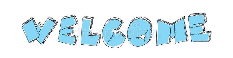 Помечать буквами гостеприимсво слова сделан в форме металлических пластин с заклепками Цвет бирюзы Стиль Grunge зверский вектор бесплатная иллюстрация
