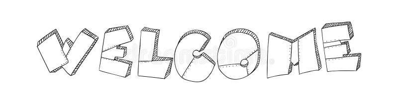 Помечать буквами гостеприимсво слова сделан в форме металлических пластин с заклепками Стиль Grunge зверский Вектор оформления иллюстрация штока
