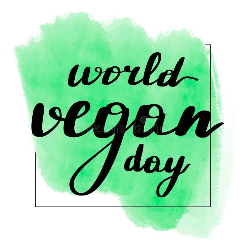 Помечать буквами день vegan мира надписи иллюстрация штока