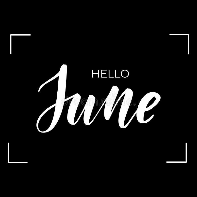 Помечать буквами здравствуйте июнь бесплатная иллюстрация