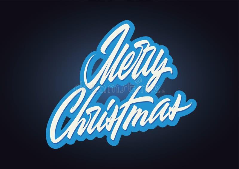 Помечать буквами с Рождеством Христовым стоковое изображение