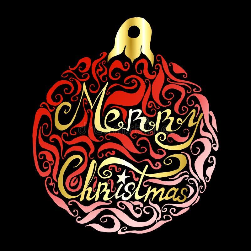 Download Помечать буквами с Рождеством Христовым Иллюстрация вектора - иллюстрации насчитывающей торжество, орнамент: 81802972