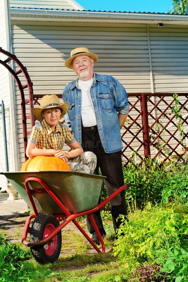 Помогать к деду стоковые изображения
