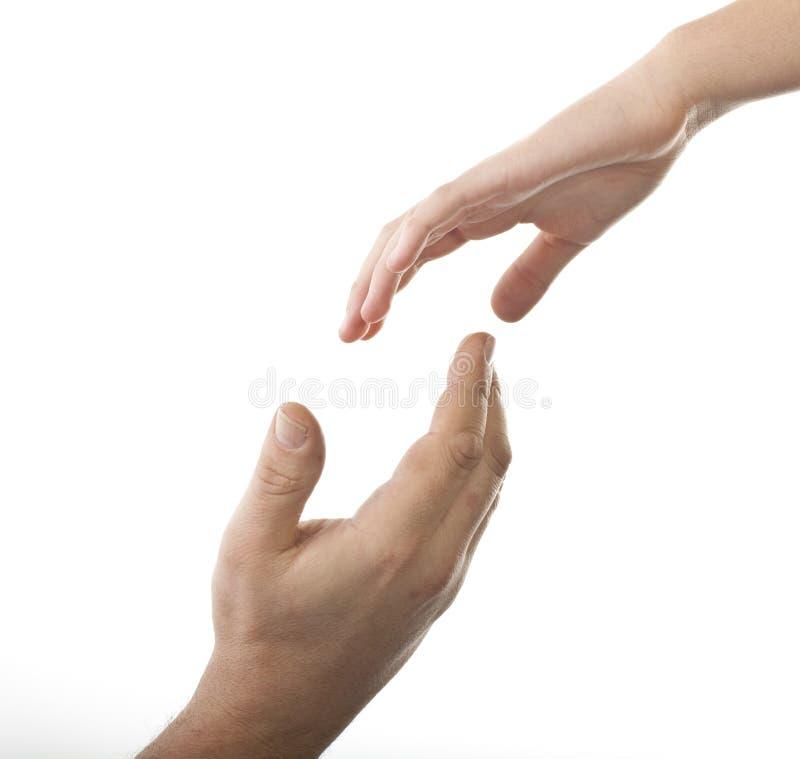 помогать руки стоковое изображение rf