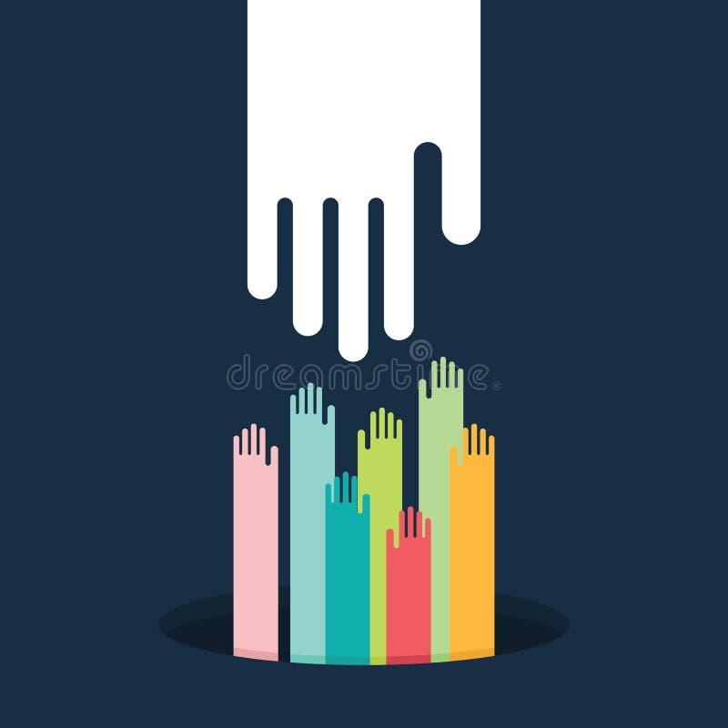 помогать руки бесплатная иллюстрация
