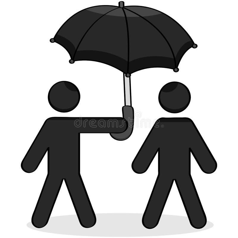 Помогая зонтик