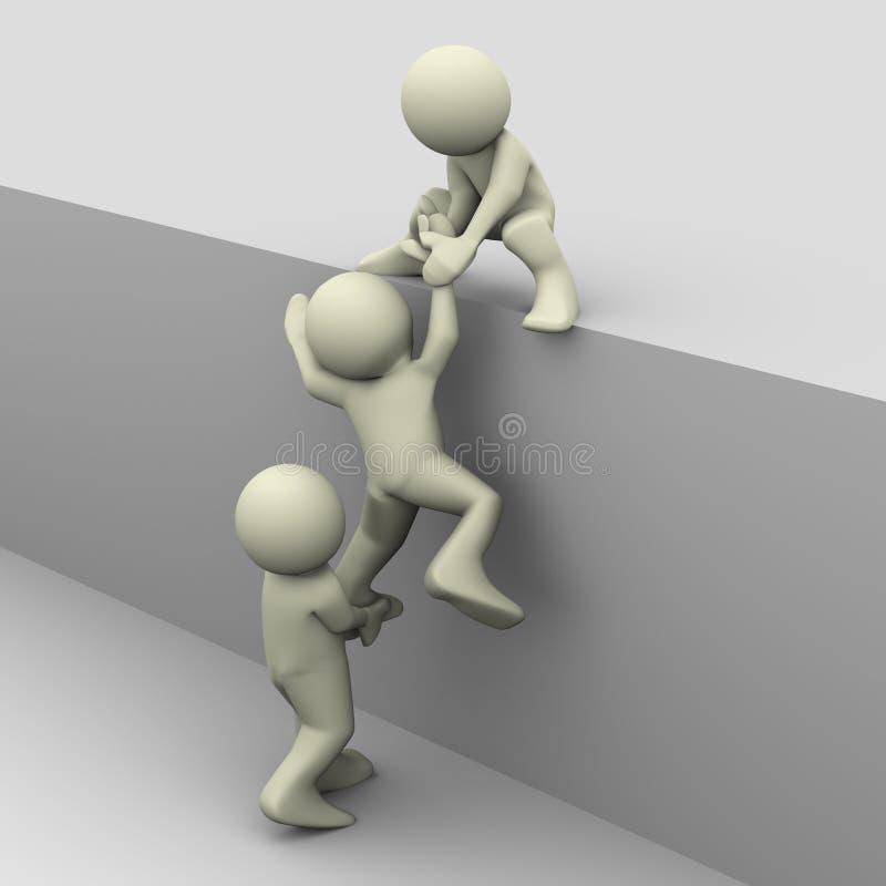 помогая люди 3d иллюстрация вектора
