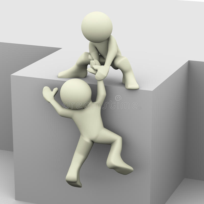 помогая человек 3d иллюстрация вектора