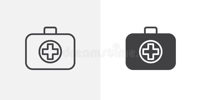 помогите первому набору иконы иллюстрация вектора