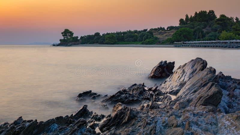 Помох пляжа Lagomandra стоковые изображения rf