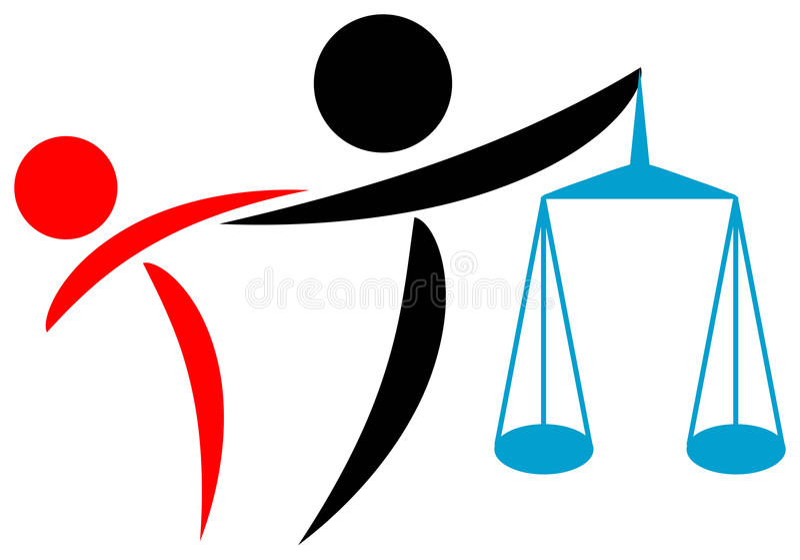 помощь законная иллюстрация вектора