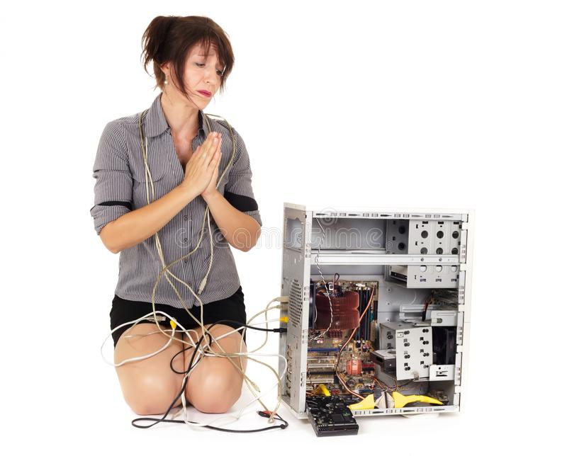 Помощь компьютера пожалуйста! стоковая фотография rf