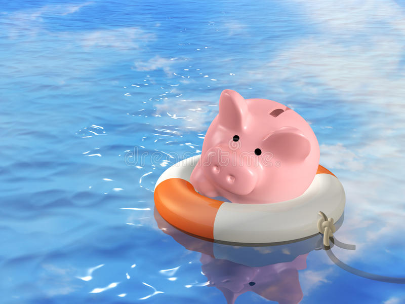 помощь кризиса финансовохозяйственная иллюстрация вектора
