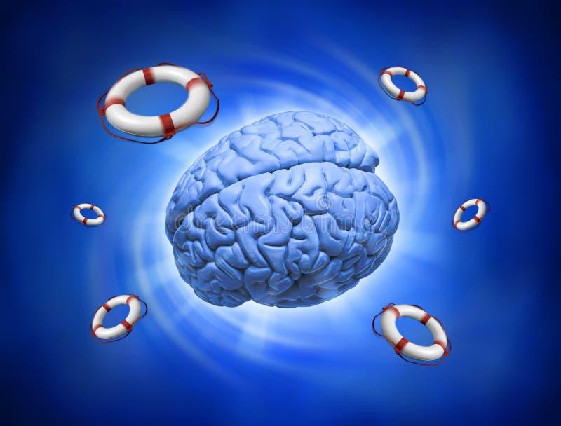 помощь нажатия мозга тревожности стоковые фотографии rf