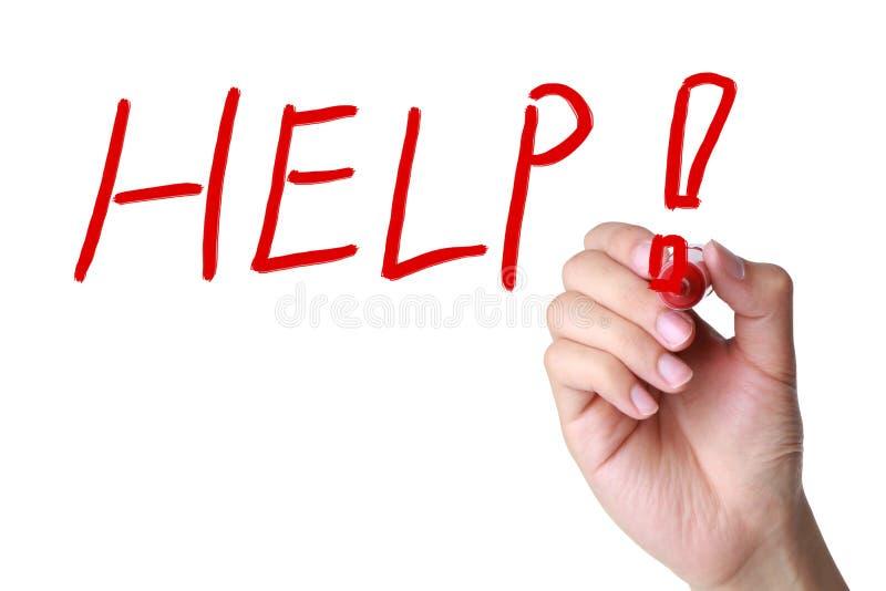 Помощь! стоковое изображение