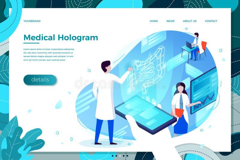 Помощь hologram здоровья esophagus иллюстрации вектора иллюстрация вектора